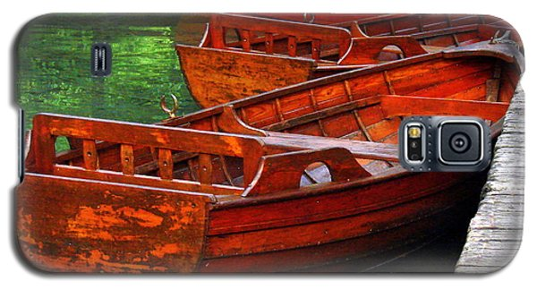 Galaxy S5 Case featuring the photograph Wooden Rowboats by Ramona Johnston