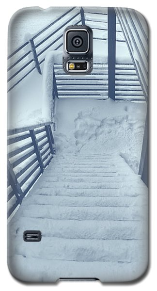 Wooden Steps Covered With Snow Galaxy S5 Case by Vlad Baciu