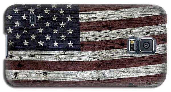 Wooden Textured Usa Flag3 Galaxy S5 Case