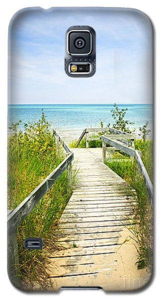 Wooden Walkway Over Dunes At Beach Galaxy S5 Case