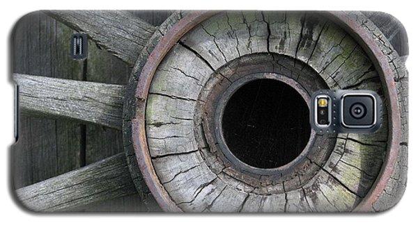 Wooden Wheel Galaxy S5 Case