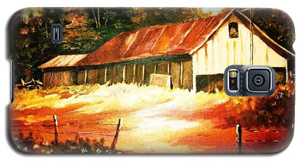 Woodland Barn In Autumn Galaxy S5 Case by Al Brown