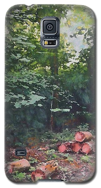 Galaxy S5 Case featuring the painting Woodland Glade In Peebles by Richard James Digance
