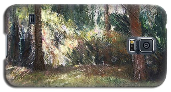 Galaxy S5 Case featuring the painting Woodland Shadows by Mary Lynne Powers