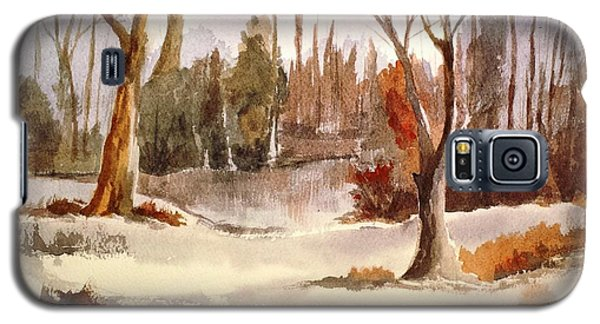 Woods By The Lake Galaxy S5 Case
