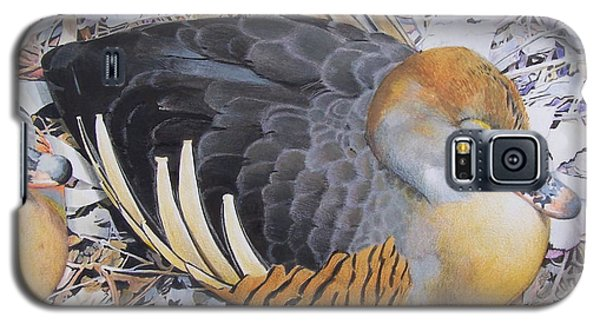 Galaxy S5 Case featuring the mixed media Woody's Duck by Constance Drescher
