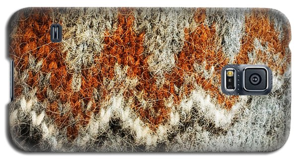Woolen Jersey Detail Grey And Orange Galaxy S5 Case