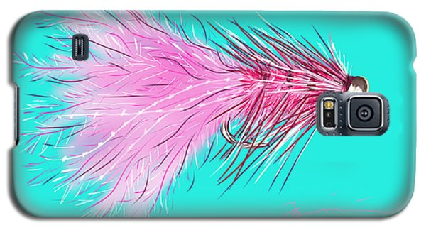 Galaxy S5 Case featuring the painting Woolly Bugger by Jean Pacheco Ravinski