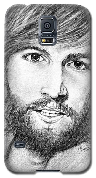 Galaxy S5 Case featuring the drawing Barry Gibb  by Patrice Torrillo
