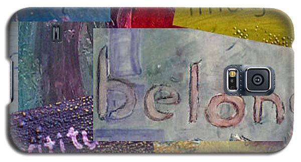 Galaxy S5 Case featuring the painting Words To Live By by Lou Belcher