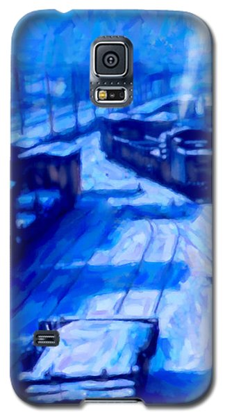 Galaxy S5 Case featuring the digital art Working By Moonlight by Chuck Mountain