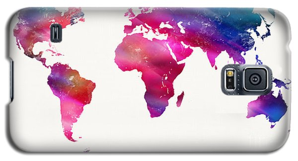World Map Light  Galaxy S5 Case