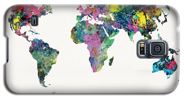 World Map Galaxy S5 Case