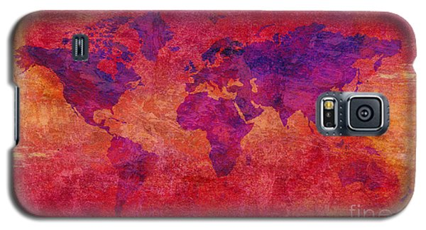 Galaxy S5 Case featuring the digital art World Map  by Mohamed Elkhamisy