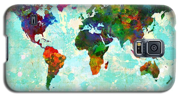 World Map Splatter Design Galaxy S5 Case