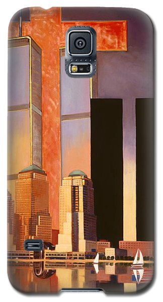 Galaxy S5 Case featuring the painting World Trade Center Memorial by Art James West