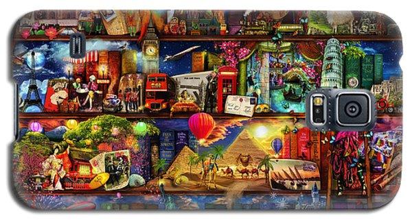 World Travel Book Shelf Galaxy S5 Case by Aimee Stewart