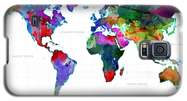 World Watercolor Map #3 Galaxy S5 Case