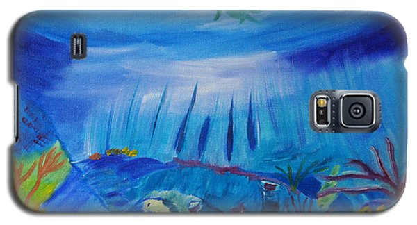 Galaxy S5 Case featuring the painting Worlds Below The Sea by Meryl Goudey
