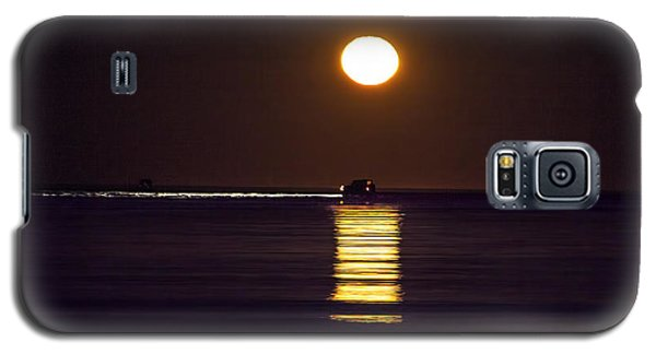 Worm Moon Rising Galaxy S5 Case by Phil Mancuso