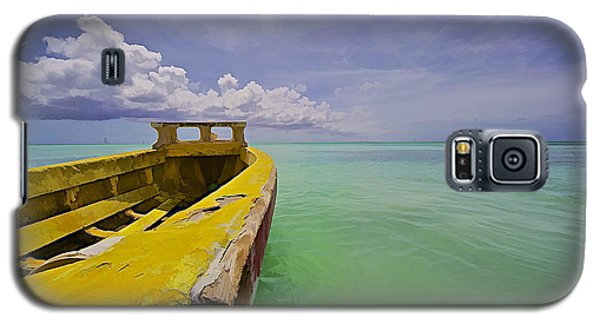 Worn Yellow Fishing Boat Of Aruba II Galaxy S5 Case