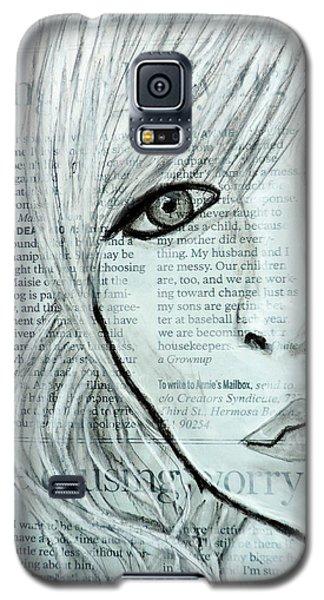 Worry Galaxy S5 Case by Cathy Jourdan