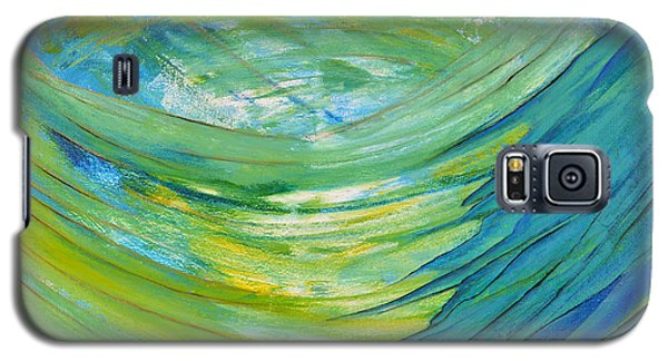 Galaxy S5 Case featuring the painting Worship by Cassie Sears
