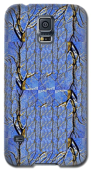 Woven Tree In Blue And Gold Galaxy S5 Case
