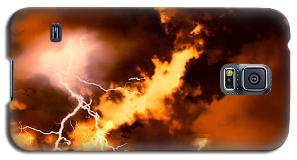 Galaxy S5 Case featuring the painting Wrath Of Zeus by Persephone Artworks