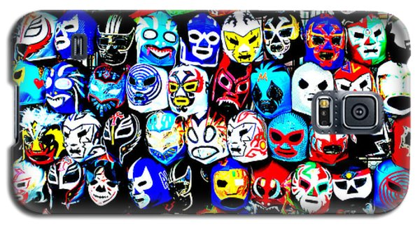 Wrestling Masks Of Lucha Libre Altered Galaxy S5 Case by Jim Fitzpatrick