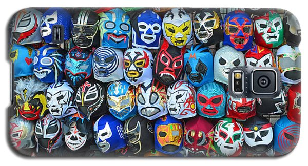 Wrestling Masks Of Lucha Libre Galaxy S5 Case by Jim Fitzpatrick