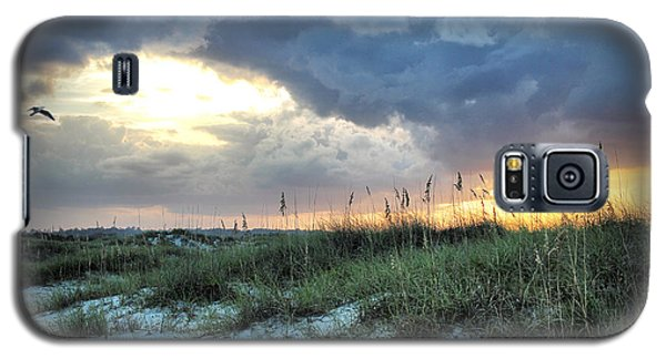 Galaxy S5 Case featuring the photograph Wrightsville Beach South End Sunset by Phil Mancuso
