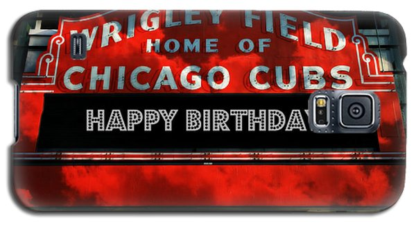 Wrigley Field -- Happy Birthday Galaxy S5 Case by Stephen Stookey