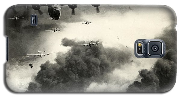 Wwii B-24 Liberators Over Ploesti Galaxy S5 Case by Historic Image