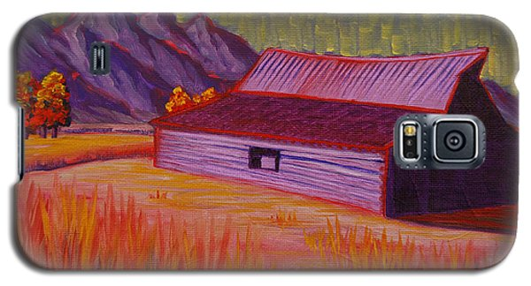 Wyoming Barn In Red Galaxy S5 Case