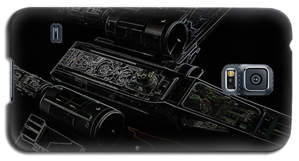 Galaxy S5 Case featuring the digital art X Wing Fighter Color by Chris Thomas