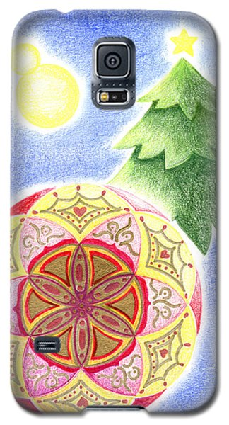 Galaxy S5 Case featuring the drawing X'mas Ornament by Keiko Katsuta