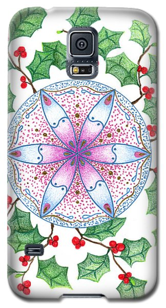 Galaxy S5 Case featuring the drawing X'mas Wreath by Keiko Katsuta