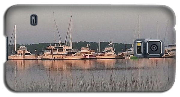 Yacht And Harbor View Galaxy S5 Case