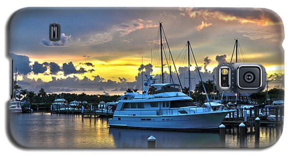 Galaxy S5 Case featuring the photograph Yacht At Cape Coral Florida Marina And Resort 2 by Timothy Lowry