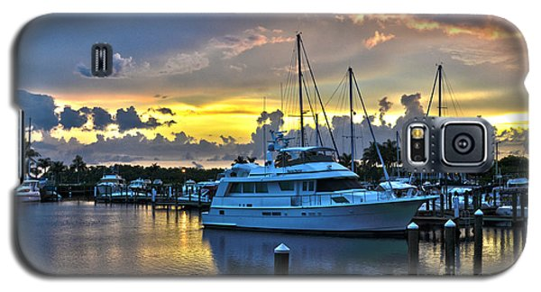 Yacht At Cape Coral Florida Marina And Resort 2 Galaxy S5 Case by Timothy Lowry
