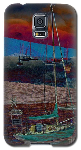 Galaxy S5 Case featuring the photograph Yachts On The River by Leanne Seymour