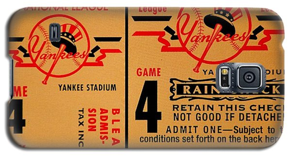 Yankees 4th Straight - Vintage Galaxy S5 Case by Benjamin Yeager