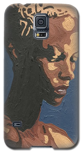 Galaxy S5 Case featuring the painting Yasmin Warsame by Rachel Natalie Rawlins