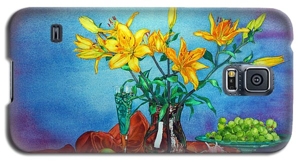 Yellow Lily In A Vase Galaxy S5 Case