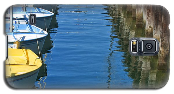 Yellow And Blue Sailboats From The Book My Ocean Galaxy S5 Case by Artist and Photographer Laura Wrede