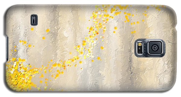 Yellow And Gray Landscape Galaxy S5 Case by Lourry Legarde