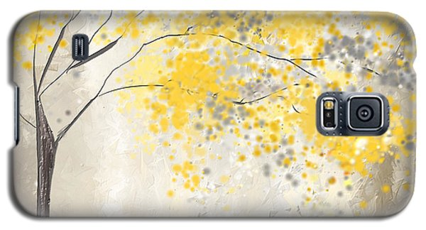 Yellow And Gray Tree Galaxy S5 Case by Lourry Legarde