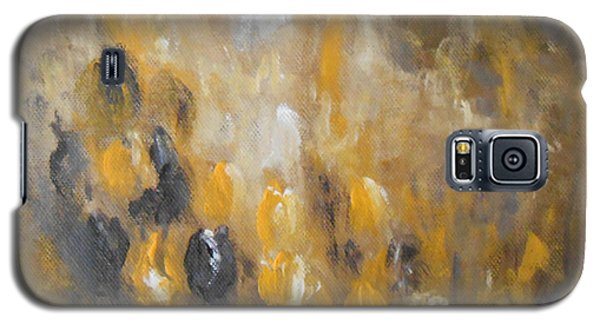 Galaxy S5 Case featuring the painting Yellow And Purple by Jane  See