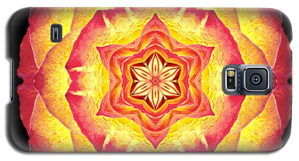 Yellow And Red Rose IIi Flower Mandala Galaxy S5 Case